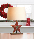 Farmhouse Red Star Table Lamp - Distinctive Merchandise