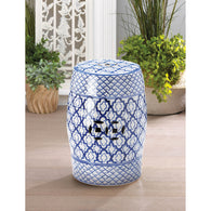 Blue And White Ceramic Decorative Stool - Distinctive Merchandise