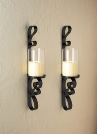 Ornate Candle Sconce Duo - Distinctive Merchandise