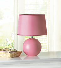 PINK ROUND BASE TABLE LAMP