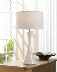 Sleek Modern White Table Lamp - Distinctive Merchandise