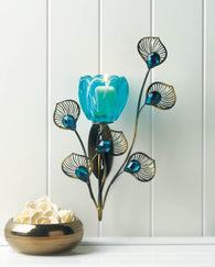 Peacock Blossom Single Sconce - Distinctive Merchandise
