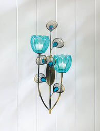 Peacock Blossom Duo Cup Sconce - Distinctive Merchandise