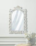Grand Distressed White Wall Mirror - Distinctive Merchandise