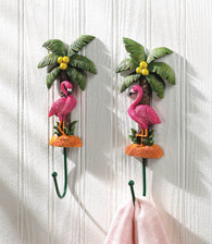 Flamingo Wall Hook Set - Distinctive Merchandise