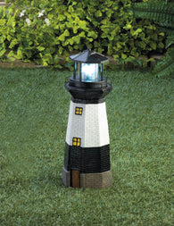 SPINNING SOLAR POWERED LIGHTHOUSE