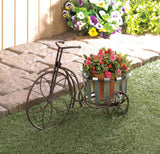 Galvanized Bucket Bike Plant Stand - Distinctive Merchandise