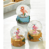 Beach Party Flamingo Snow Globe