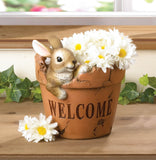 Welcoming Bunny Planter - Distinctive Merchandise