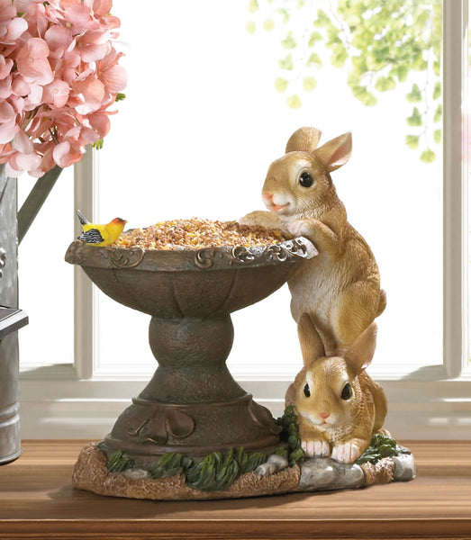 Playful Bunnies Bird Feeder - Distinctive Merchandise