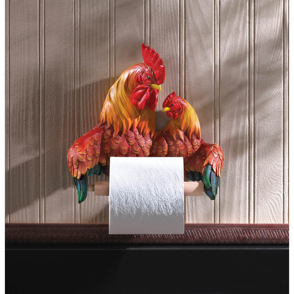 PROUD ROOSTERS TOILET PAPER HOLDER