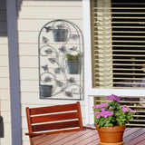 Butterfly Trellis With Flower Pots - Distinctive Merchandise