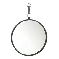 Round Mirror With Leather Strap - Distinctive Merchandise