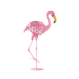 Leaning Solar Flamingo Statue - Distinctive Merchandise