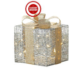 Large Light Up Gift Box Décor