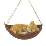 Napping Cat On Hammock Figurine - Distinctive Merchandise
