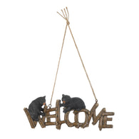 Black Bear Welcome Sign - Distinctive Merchandise