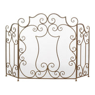 Modern Scroll Fireplace Screen - Distinctive Merchandise
