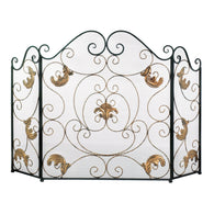Gold Fleur-de-lis Fireplace Screen - Distinctive Merchandise