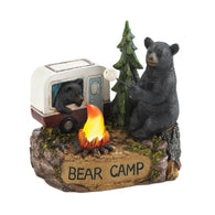 Camping Bear Family Light Up Figurine