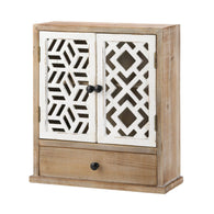 Geo Pattern Wall Cabinet - Distinctive Merchandise