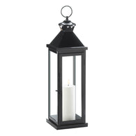 Large Glossy Black Lantern - Distinctive Merchandise