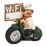 Chef W/ Wifi Sign And Clock - Distinctive Merchandise