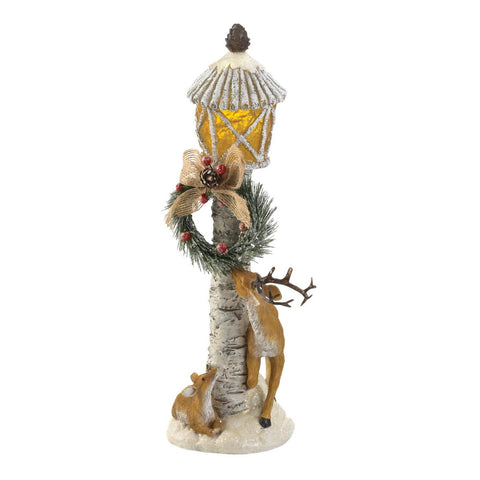 Light Post Reindeer Figurine - Distinctive Merchandise