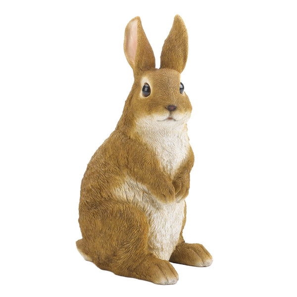 Curiously Cute Bunny Garden Figurine - Distinctive Merchandise