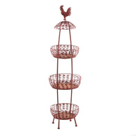 Red Rooster 3 Tier Baskets - Distinctive Merchandise