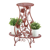 Red Rooster Hourglass Triple Plant Stand - Distinctive Merchandise