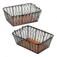 Iron Basket Set Of 2 - Distinctive Merchandise