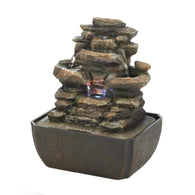 Tiered Rock Formation Tabletop Fountain - Distinctive Merchandise
