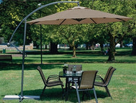10 Foot Mocha Offset Patio Umbrella Rotates 360 Degrees - Distinctive Merchandise