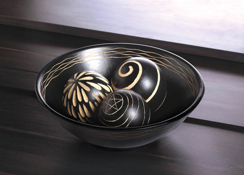 ARTISAN DECO BOWL AND BALLS - Distinctive Merchandise