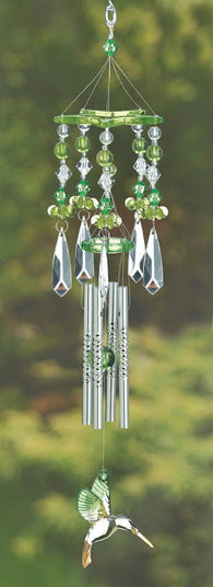 Green Hummingbird Chimes - Distinctive Merchandise