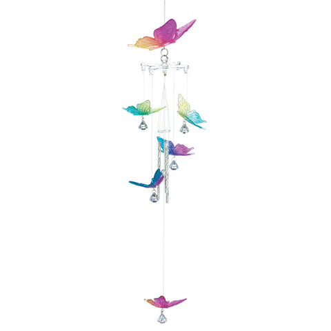 Rainbow Butterfly Wind Chimes - Distinctive Merchandise