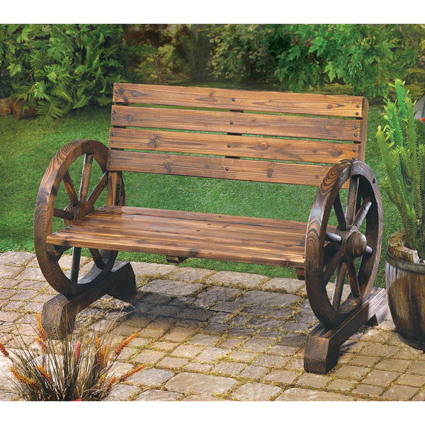 Wagon Wheel Bench - Distinctive Merchandise