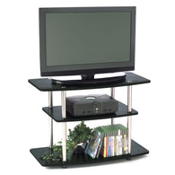 32-Inch Flat Screen TV Stand in Wood Grain Finish - Distinctive Merchandise
