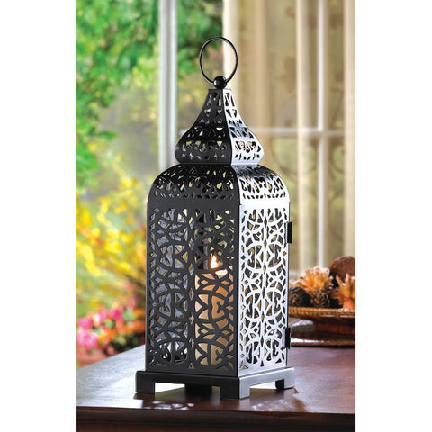 Black Moroccan Candle Lantern - Distinctive Merchandise