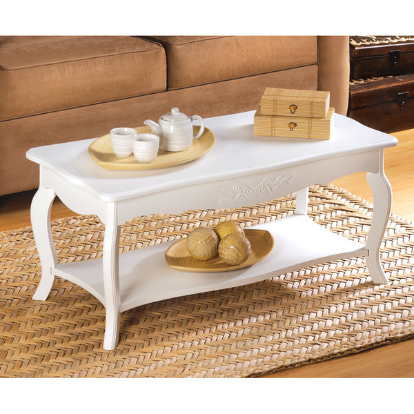 White Elegant Coffee Table - Distinctive Merchandise