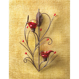 Ruby Blossom Tealight Sconce - Distinctive Merchandise