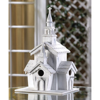 Little White Chapel Birdhouse - Distinctive Merchandise