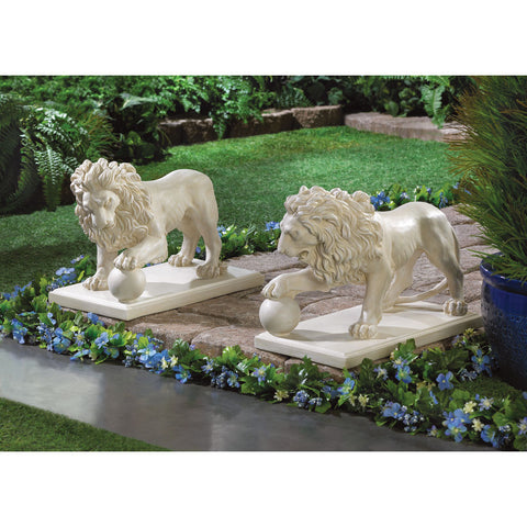 Regal Lion Statue Duo - Distinctive Merchandise