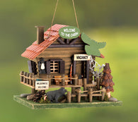 Woodland Cabin Birdhouse - Distinctive Merchandise