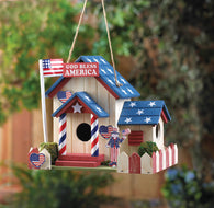 Patriotic Birdhouse - Distinctive Merchandise