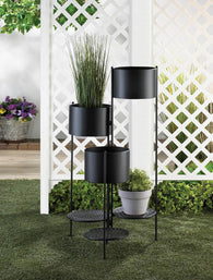 3-Tier Barrel Bucket Plant Stand - Distinctive Merchandise