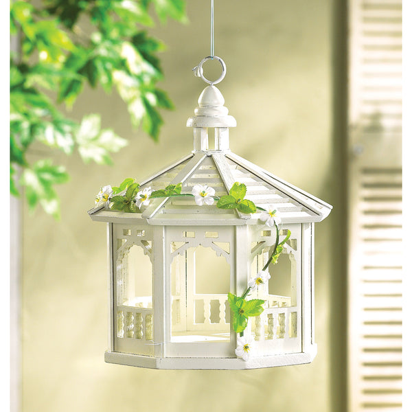 White Gazebo Bird Feeder - Distinctive Merchandise
