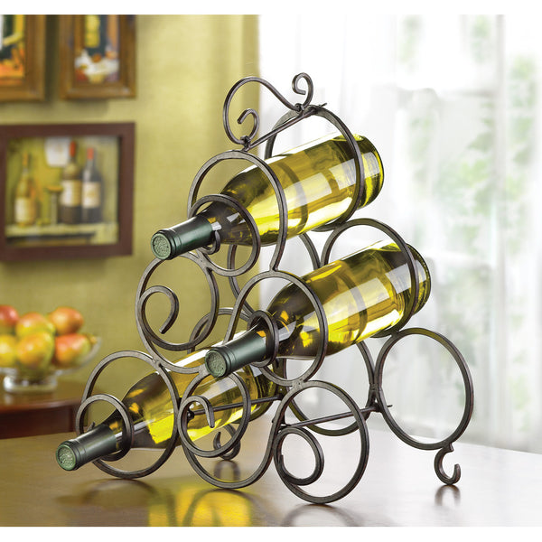 Scrollwork Wine Rack - Distinctive Merchandise