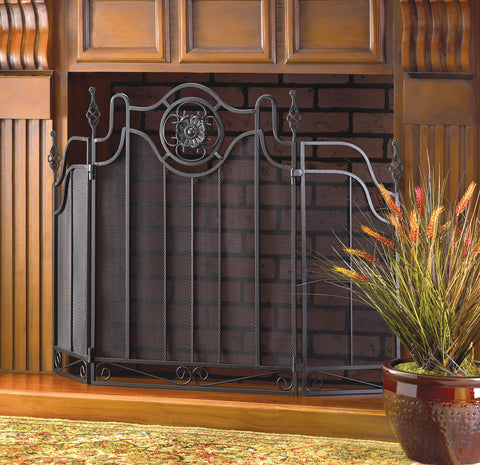 TUSCAN-DESIGN FIREPLACE SCREEN - Distinctive Merchandise
